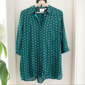 Anthropologie Maeve Swiss Tab Tunic Top Size S